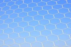 Netz der Fußballauszugsbeschaffenheit Lizenzfreies Stockfoto