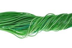 Netz der grünen Drähte Stockfotografie