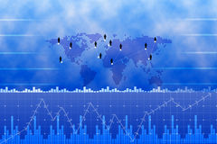 Netz des globalen Geschäfts und Geschäftsdiagramme Lizenzfreies Stockbild