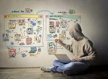 Netz-Designer lizenzfreies stockfoto