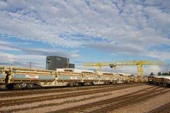 Netz-Eisenbahninfrastruktur-Depot Stockfotos