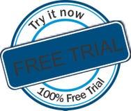 Netz-Fahne der kostenlosen Testversion Lizenzfreie Stockbilder