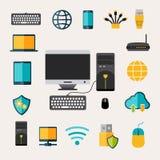 Netz-Gerät-Satz lizenzfreie abbildung