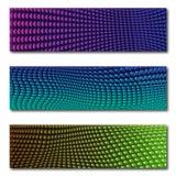 Netz-Grafik-Fahnen-Veilchen und Blau Stockbilder