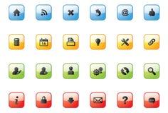 Netz-Ikone Buttons_square Stockbilder