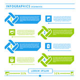 Netz infographics Elemente. Designschablone stock abbildung