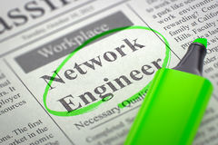 Netz-Ingenieur Hiring Now 3d Stockbild