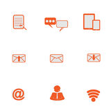 Netz, Kommunikationsikonen: Internet-Vektorsatz Lizenzfreie Stockbilder