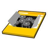 Netz-Maschinen-Vektor-Illustration Stockfotos