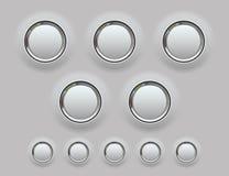 Netz-Metallknopf. Vektorillustration Lizenzfreie Stockfotos