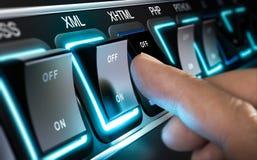 Netz oder Programmiersprachen APP Lizenzfreie Stockfotos
