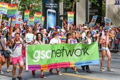 Netz Sans Francisco Pride Parade GSA Lizenzfreie Stockfotos