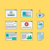 Netz-Schablonen-Form Lizenzfreie Stockfotos