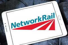 Netz-Schienenlogo Lizenzfreies Stockfoto