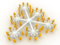 Netz sechs angeschlossen Lizenzfreie Stockbilder