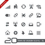 Netz u. bewegliche Icons-6 //Grundlagen Stockbild