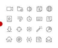 Netz u. bewegliche Ikonen 4 rote Punkt-Reihe // Stockbilder