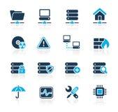 Netz- u. Server-//-Azurblau-Serie lizenzfreie abbildung