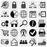 Netz und beweglicher Ikonensatz. Stockfotos
