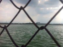 Netz und grünes Wasser Stockbild