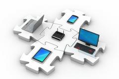 Netz- und Internet-Kommunikation Stockfoto
