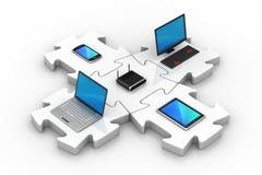 Netz- und Internet-Kommunikation Lizenzfreie Stockbilder