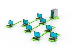 Netz- und Internet-Kommunikationskonzept Lizenzfreie Stockbilder