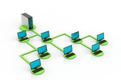 Netz- und Internet-Kommunikationskonzept Stockbilder
