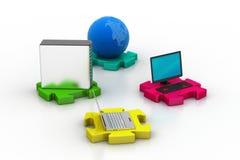 Netz- und Internet-Kommunikationskonzept Stockfotografie