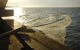 Netz und Meer Stockbild