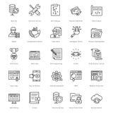 Netz und SEO Line Vector Icons 24 Lizenzfreie Stockfotografie