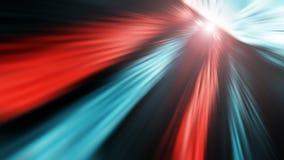 Netz und Stromkabel, abstrakter Informationsfluss in Internet Stockfotos