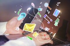 Netz- und Technologiekonzept Stockfoto