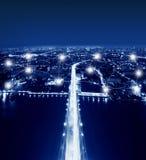 Netz-und Verbindungs-Technologie-Konzept der Spitze von Rama VII Stockbilder