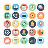 Netz-und Vernetzungs-Vektor-Illustrationen 5 Stockbild