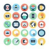 Netz-und Vernetzungs-Vektor-Illustrationen 4 Lizenzfreie Stockbilder