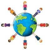 Netz von Leuten rund um den Globus Lizenzfreies Stockfoto