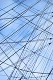 Netz von Seilen Lizenzfreie Stockbilder