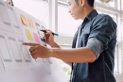 Netzdesigner-Planungsanwendung für Handy Lizenzfreie Stockfotos
