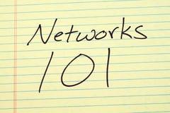Netze 101 auf einem gelben Kanzleibogenblock Lizenzfreie Stockbilder