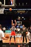 Netze gegen Stier-Basketball in Barclays-Center lizenzfreies stockfoto
