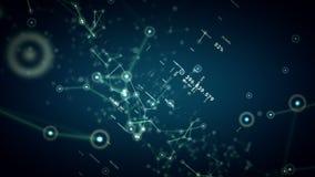 Netze und Daten-Blau-Transportwagen lizenzfreie abbildung