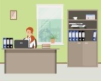Netzfahne eines Büroangestellten Stockbild