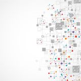 Netzfarbtechnologiehintergrund Stockfotografie