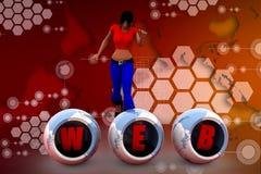 Netzillustration der Frau 3D Lizenzfreie Stockfotografie