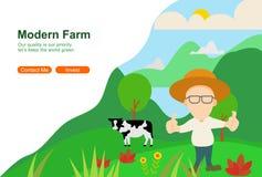 Netzillustration des modernen Landwirtschaftsvektors stockfotografie