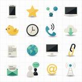 Netzinternet-Ikonen Stockbild