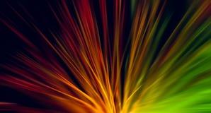 Netzkabel aus optischen Fasern, Radialunschärfeeffekt stockbild