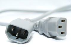 Netzkabel der Stromversorgung für den Computer Stockfoto