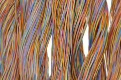 Netzkabel, Drähte in der Telekommunikation stockbilder